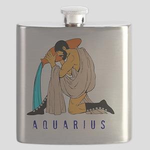 Zodiac  aquarius Flask