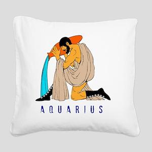 Zodiac  aquarius Square Canvas Pillow