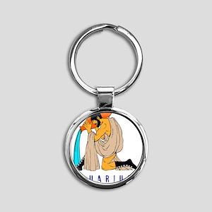 Zodiac  aquarius Round Keychain