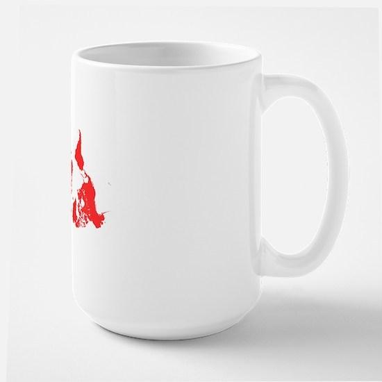 World Map Upside Down Large Mug