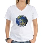 Peace On Earth Women's V-Neck T-Shirt