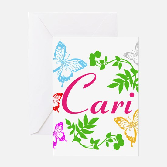 Personalize Name Dancing Butterflies Greeting Card