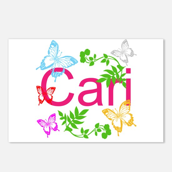 Personalize Name Dancing Butterflies Postcards (Pa