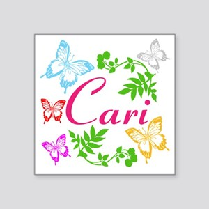 Personalize Name Dancing Butterflies Sticker
