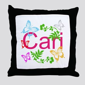 Personalize Name Dancing Butterflies Throw Pillow