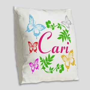 Personalize Name Dancing Butterflies Burlap Throw