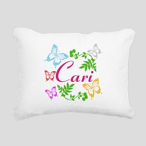 Personalize Name Dancing Butterflies Rectangular C