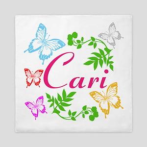 Personalize Name Dancing Butterflies Queen Duvet