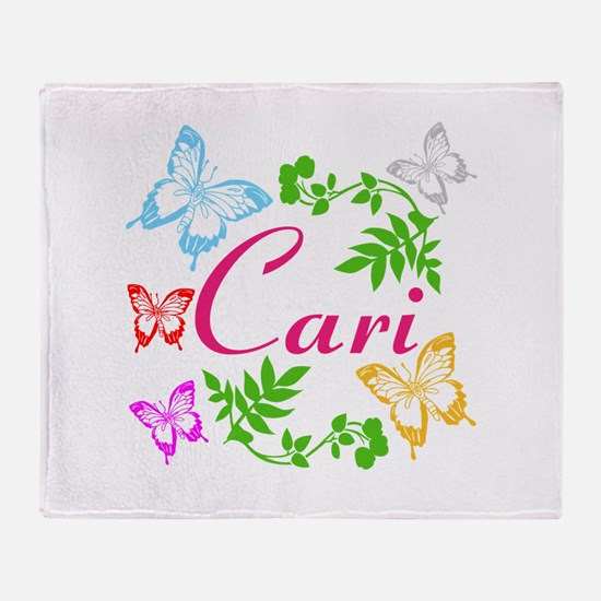 Personalize Name Dancing Butterflies Throw Blanket