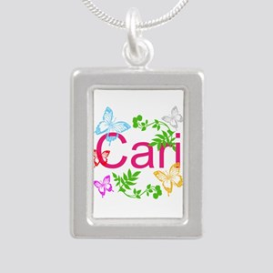 Personalize Name Dancing Butterflies Necklaces