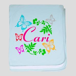 Personalize Name Dancing Butterflies baby blanket
