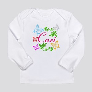 Personalize Name Dancing Butterflies Long Sleeve T