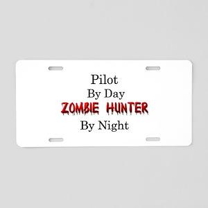 Pilot/Zombie Hunter Aluminum License Plate