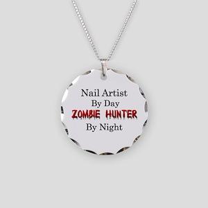 Nail Artist/Zombie Hunter Necklace Circle Charm