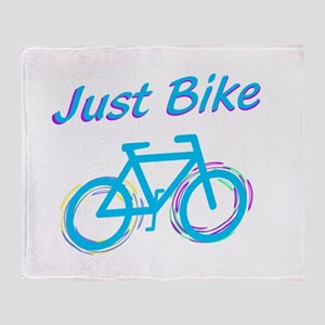 Just Bike Throw Blanket
