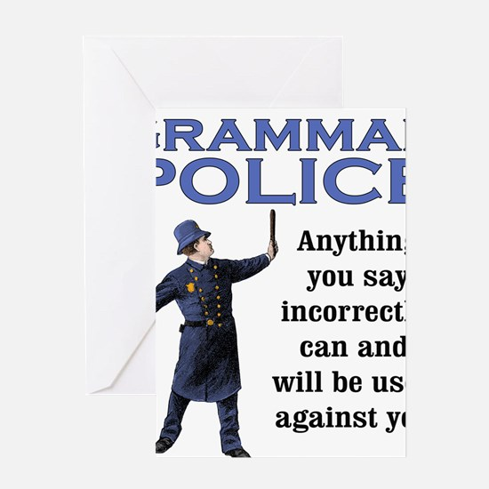 Grammar Police Greeting Cards