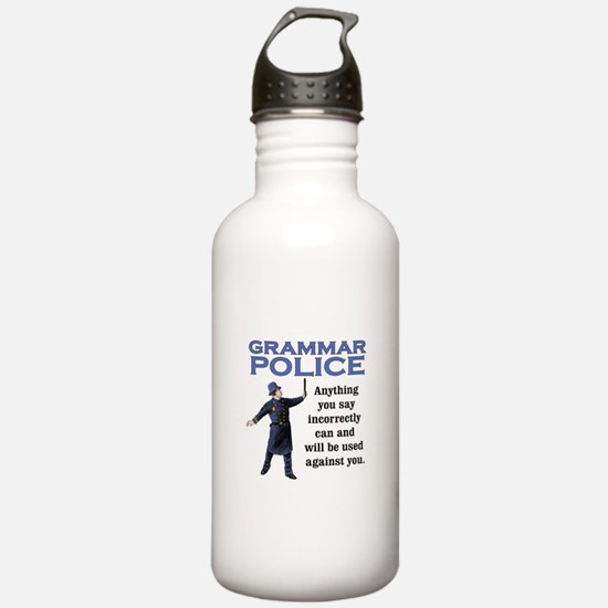 Grammar Police Water Bottle