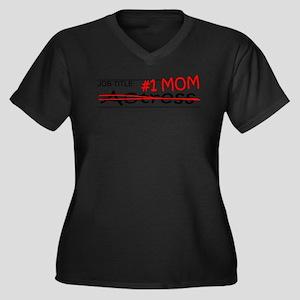 Job Mom Actr Women's Plus Size V-Neck Dark T-Shirt
