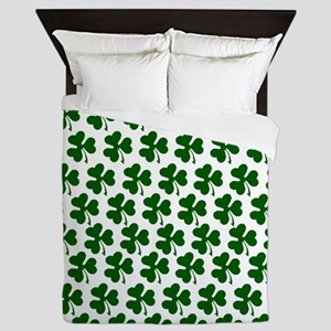 Irish Shamrock Pattern Queen Duvet