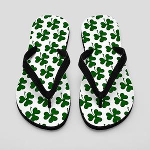 Irish Shamrock Pattern Flip Flops