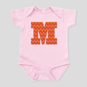 M Monogram Chevron Infant Bodysuit