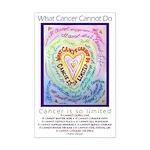 Rainbow Heart Cancer Mini Poster Print