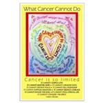 Rainbow Heart Cancer Large Poster