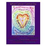 Rainbow Heart Cancer Small Poster