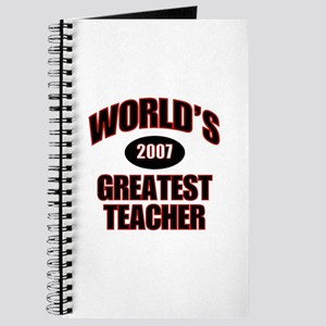 Greatest Teacher 2007 Journal