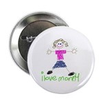 """I Love Mommy- Daughter 2.25"""" Button"""
