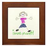 I Love Mommy- Daughter Framed Tile