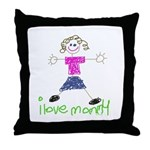 I Love Mommy- Daughter Throw Pillow