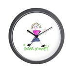 I Love Mommy- Daughter Wall Clock