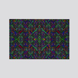 Sweet psychedelic hearts Rectangle Magnet