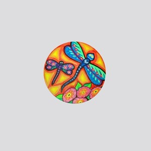 Blue Dragonfly Mini Button