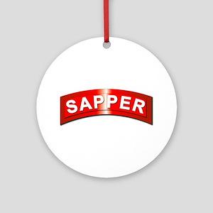 Sapper Tab - Metal Ornament (Round)