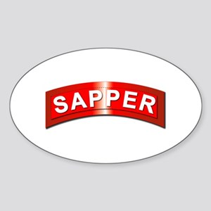 Sapper Tab - Metal Sticker (Oval)