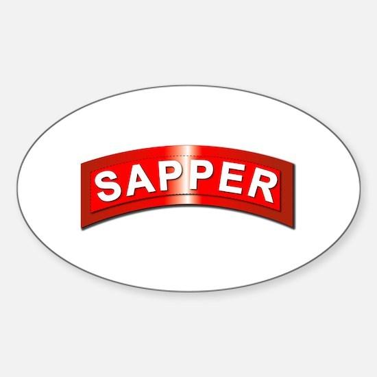 Sapper Tab - Metal Sticker (Oval)
