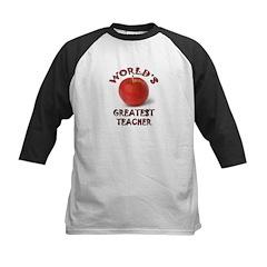 Greatest Teacher - Apple Kids Baseball Jersey