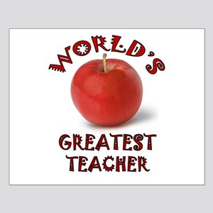 Greatest Teacher - Apple Small Poster