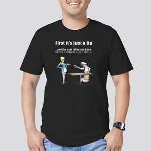 Its just a tip Men's Fitted T-Shirt (dark)