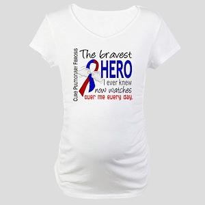 Pulmonary Fibrosis Bravest Hero Maternity T-Shirt