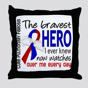 Pulmonary Fibrosis Bravest Hero I Kne Throw Pillow
