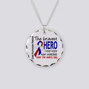 Pulmonary Fibrosis Bravest H Necklace Circle Charm