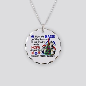 Pulmonary Fibrosis Christmas Necklace Circle Charm