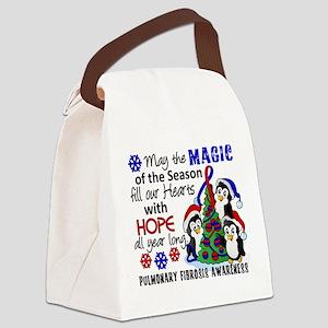Pulmonary Fibrosis Christmas Peng Canvas Lunch Bag