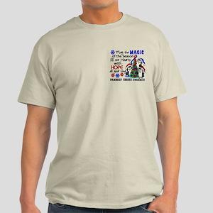 Pulmonary Fibrosis Christmas Penguin Light T-Shirt