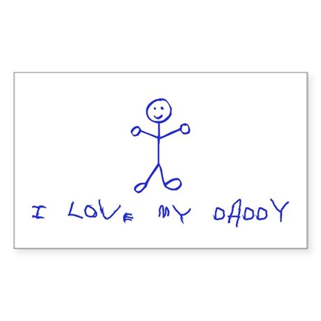 Love Daddy Rectangle Sticker