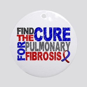 Pulmonary Fibrosis Find the Cure Ornament (Round)