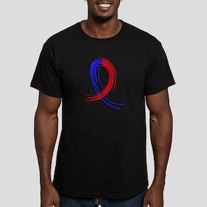 Pulmonary Fibrosis Gra Men's Fitted T-Shirt (dark)